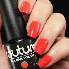 "This gorgeous coral #gelnailpolish is aptly named ""Designer Label""!"