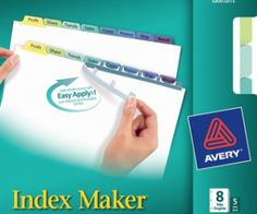 Babybear's Freebies, Sweeps and more!: FREE Avery Index Maker Dividers Sample Pack
