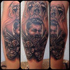 Ned Kelly tattoo Simpsons Artist, Ned Kelly, Body Art, Tattoo Ideas, Ink, Portrait, Tattoos, Style, Tatuajes