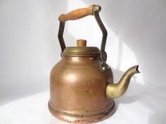 tea pot vintage kettle copper antique cookware by VintageBettyLuke, $23.95