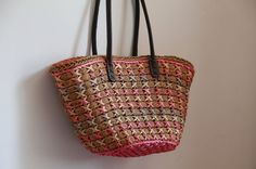 Damen handgewebte Strand Warenkorb voll von ZAKKAgardenart auf Etsy