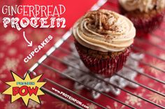 Gingerbread protein cupcake
