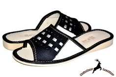 Day and Knight Leather Flat Heel Slide