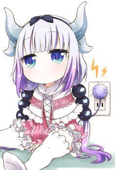 The maid dragon of Kobayashi-san Cute Anime Pics, Cute Anime Couples, Girls Characters, Anime Characters, Chibi, Bb Reborn, Kobayashi San Chi No Maid Dragon, Kanna Kamui, Miss Kobayashi's Dragon Maid