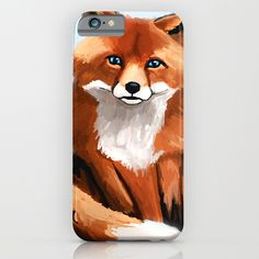 Fox iPhone & iPod Case    IPHONE IPHONE  Protect your iPhone 6s with a unique Society6 phone case featuring wrap around art designed by artists from around the world.  Our Slim Cases are constructed as a one-piece, impact resistant, flexible plastic hard case with a slim profile.   #art #painting #drawing #illustration #decoration #idea #print #sketch #sketchbook #iphone #case #phone #smartphone #artist #tomcii #society6 #youtube #canvas #cool