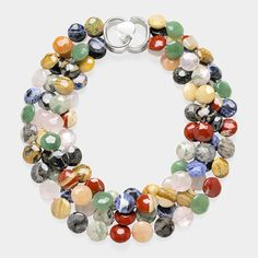 looks like a necklace made of marbles.
