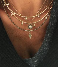 On en porte jamais assez on a dit ... tout les modèles de la photo sont dispo sur le site www.lujparis.com #bijoux #jewels #jewelry #jamaisassez #collier #necklace #lujparis #lujbijoux #instaluj #instagold #instadaily #instajewels worldwide shipping