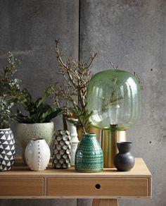 Vase Circles grün