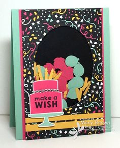 Party Wishes by stampercamper - Cards and Paper Crafts at Splitcoaststampers