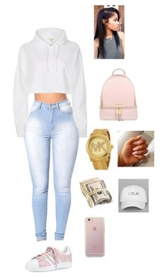 """""""like"""" by cloutqueex on Polyvore featuring River Island, Michael Kors and adidas"""