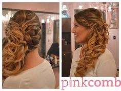 Wedding Hair by Pink Comb Studio. On-site bridal services throughout tri-state area. Salon located in Westfield, NJ