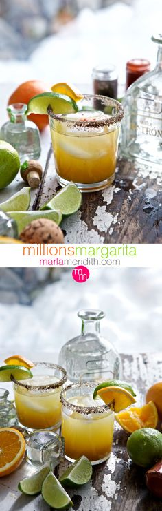 Millions Margarita | Pineapple & Citrus make this #cocktail off the charts fantastic! MarlaMeridith.com