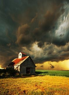 in the middle of nowhere, only an old barn for shelter during a summer storm... it's like something out of the movies... romantic and adventurous