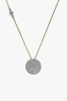 Michael Kors Disc Pendant Necklace