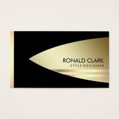 Retro Gold Black Metal Financial  Professional Business Card - cool gift idea unique present special diy