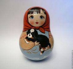 Matryoshka Matrioska Russian Nesting Doll Patriotic Symbol USA America 5 pc