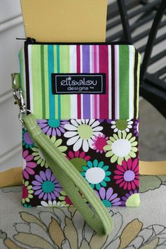 Grape Daisy Gadget Pouch Plus Padded iPhone cellphone by ElisaLou, $24.00