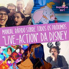 """Manual rápido sobre todos os próximos """"live-action"""" da Disney. Bora ler!"""