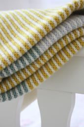 Garter stitch baby blanket inspiration