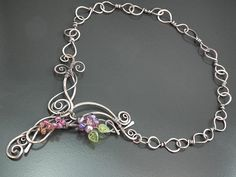 Built a whole necklace. Front-clasp. | by Gayle Bird Designs