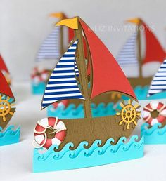 Your place to buy and sell all things handmade Boat Crafts, Fish Crafts, Camping Crafts, Flower Crafts, Diy And Crafts, Arts And Crafts, Paper Crafts, Summer Crafts For Kids, Summer Kids