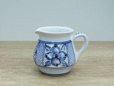 Milk Jug. Ceramic Milk Jug with blue Flower. Haban by HabanCeramic, $25.00