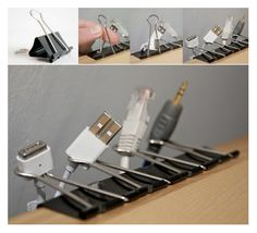 Binder Clips: A perfect inexpensive use