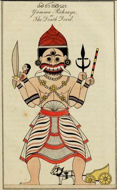 History Of Sri Lanka, Folk Religion, Pagan Gods, Demonology, Illusion Art, Angels And Demons, Old Art, Vintage Travel Posters, Indian Art