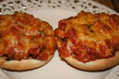 These are nice to serve for a snack. My Mom used to serve them for her Bridge Group. I have served them with a bowl of soup for supper. If you like pizza, I think you will like these. This mixture can be kept in the fridge for several days and spread on buns when you are ready to use.