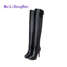 48333388694b 2017 Autumn And Winter Boots Knee-Length Long Barreled Boots Women s Shoes Women s  Boots Over