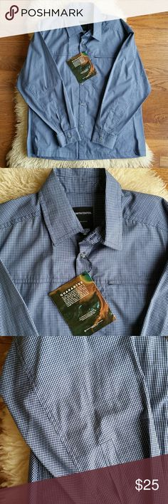 Men's blue plaid long sleeve smith center shirt 100% cotton made in the USA by a company the was environmentally responsible in the production of this garment. Light weight and breathable material that is great to layer. Smith center Shirts Casual Button Down Shirts