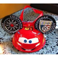 Disney Cars McQueen Mickey Mouse Ears Hat Limited Edition Ornament