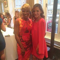 Ladies in red! @realdeniselewis a joy to meet you 👠💋💃🏻💃🏻 @thepurepackage #wellnessawards