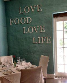 Love food love life @ Foodbarn, Noordhoek, South Africa