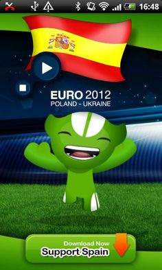 """'EURO 2012 SPAIN Anthem' is the official app to play SPAIN anthem during UEFA EURO 2012 tournament.<br/><br/>★★★★★ """"EURO 2012 SPAIN Anthem"""" ★★★★★<br/><br/>'EURO 2012 SPAIN Anthem' allow the Spain national football team supporters to play and sing the Spain anthem during UEFA EURO 2012 tournament.<br/><br/>The 2012 UEFA European Football Championship, EURO 2012, will be the 14th European Championship for national football teams sanctioned by UEFA. <br/><br/>The UEFA EURO 2012 tournament will…"""