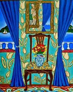 blue turquoise painting art interior Catherine Nolin-artist