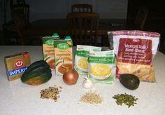 Acorn Squash soup vegetarian healthy diabetic eating fast easy dinner idea nutritious