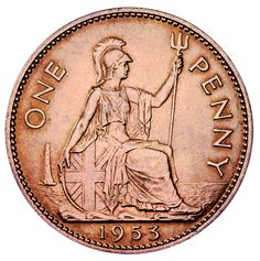 Explore the history of the penny and its survival through the British coinage system. Old British Coins, English Coins, Coin Dealers, American Coins, Penny Coin, Old Money, Gold Bullion, Rare Coins, Half Dollar