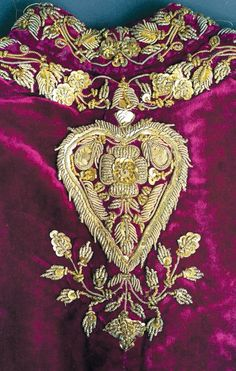 A walk through Awadh-In this a floral motif is embroidered in pure gold zari with tilla, salma, sitara and precious stones on velvet. This motif being opulent and luxurious in nature, was greatly adopted and appreciated by the nawabs during the early years