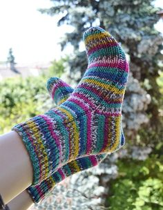 Lovely multicolor  sockswarm and soft by DosiakStyle on Etsy