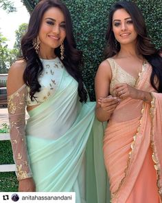 The latest Indian saree designs look-book is here! Take a look at some of the most amazing and new-age styles of draping your regular saree like a diva! Sari Blouse Designs, Fancy Blouse Designs, Saree Blouse Patterns, Saree Draping Styles, Saree Styles, Indian Beauty Saree, Indian Sarees, Sari Bluse, Lehenga