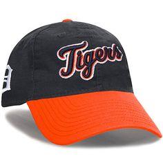 Detroit Tigers New Era Team Canvas 9FORTY Adjustable Hat - Navy/Orange - $22.99