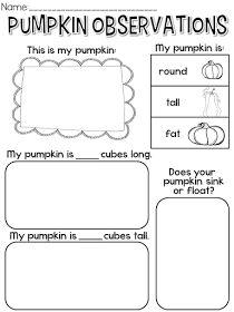 Pumpkin observations freebie!!