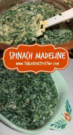 Southern, spicy, AMAZING goodness! A delicious twist on creamed spinach. You really must try Spinach Madeline this holiday season!