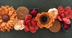 These fall colors are oh so pretty. Working on a beautiful crown duo for one of my favorite makers. I feel like the lighting just doesn't quite capture the rich autumn  tones.  #feltflowers #feltflower #feltandfauna #etsy #etsyfeatures #etsyshop #etsyseller #etsysellersofinstagram #etsyfinds #craftspire #handmadelove #craftlove #babyheadband #flowerlove #etsylent #etsyshop #etsyfinds #craftmom #crafty #crafter #crafting #craftaddict #craftlover