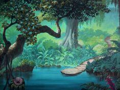 Jungle Background Art for the 1967 Movie Jungle Book | Jungle Book