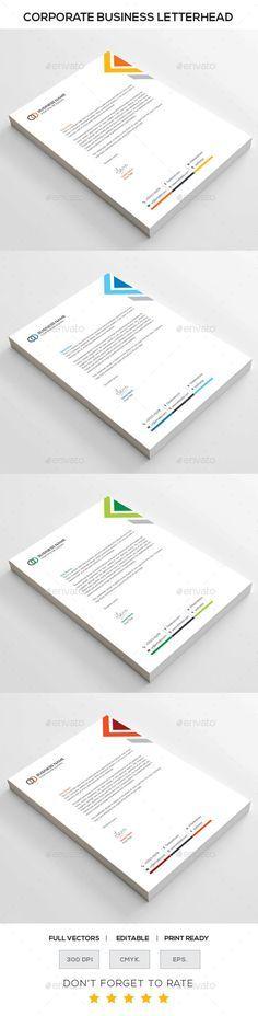 Corporate letterhead - Stationery Print Templates Letterhead - corporate letterhead template