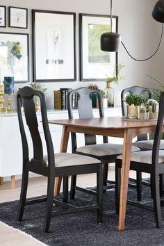 Seks stoler ble til ny førsteetasje - Byggmakker+ Decor, Furniture, Room, Dining, Wishbone Chair, Chair, Home Decor, Dining Chairs, Dining Room
