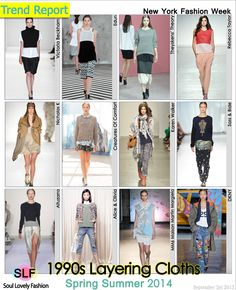 1990s Layering Cloths Fashion #Trend for Spring Summer 2014 #Spring2014 #layering #Trends