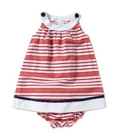 Starting Out Baby Girls 12-24 Months Striped Nautical Dress #Dillards